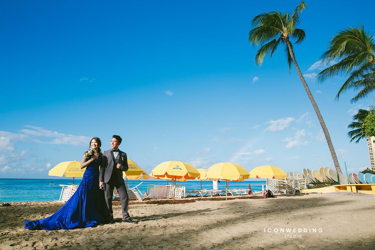 夏威夷婚紗,威基基海灘,Magic Island,中國城,海外婚紗
