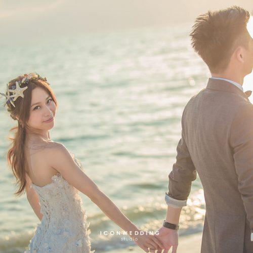 婚紗側錄,海外婚紗,日本沖繩,新原沙灘