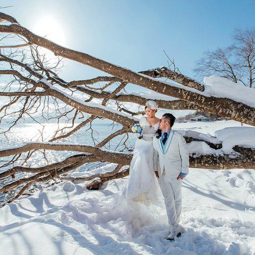 婚紗側錄,海外婚紗,日本北海道,Niseko滑雪場,支笏湖