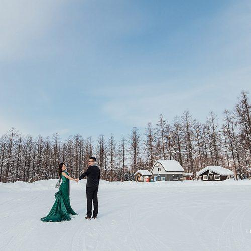 婚紗側錄,海外婚紗,日本北海道,青池,婚紗攝影