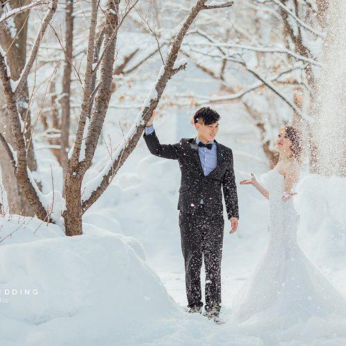婚紗側錄,海外婚紗,日本北海道,支笏湖,稻荷神社