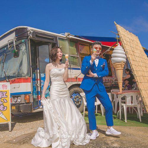 婚紗側錄,海外婚紗,日本沖繩,國際通,玩拍婚紗