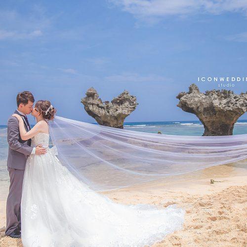 婚紗側錄,海外婚紗,日本沖繩,美國村,玩拍婚紗