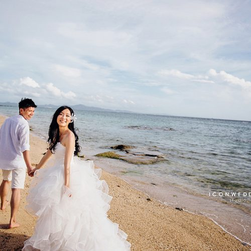 婚紗側錄,海外婚紗,日本沖繩,古宇利橋,玩拍婚紗