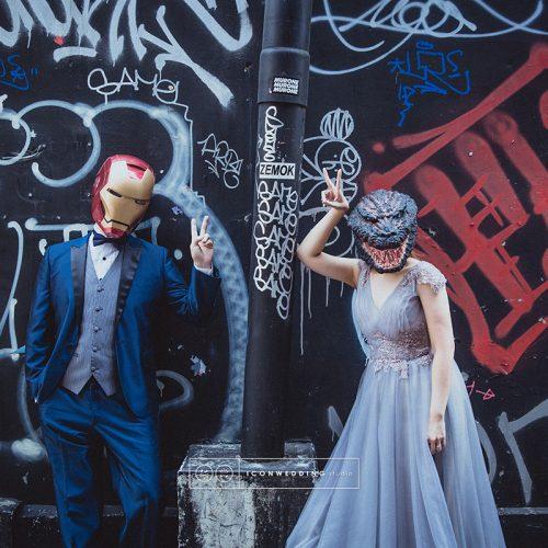 拍婚紗,法鬥攝影棚,花卉實驗中心,鋼鐵人大戰哥吉拉,婚紗照