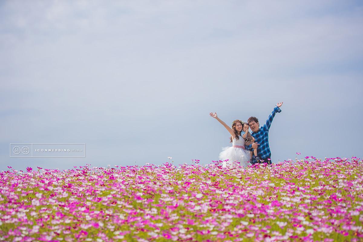 親子兒童,101大樓,波斯花海,台灣,全家福