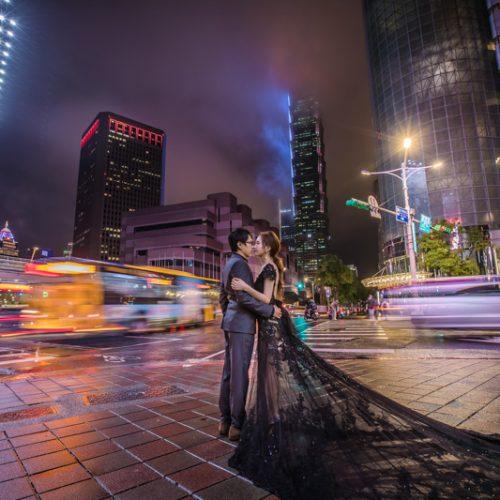 拍婚紗|街拍。大屯莊園。夜拍